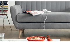 Bank Sarina Polsterbank 2er Sofa 2-Sitzer in Stoff hellgrau mit Federkern 140 cm