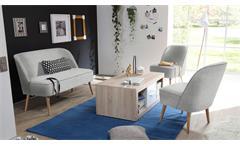 Polsterstuhl Pino Esszimmerstuhl Sessel in Stoff grau mit Nosagfederung 54 cm