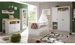 Babyzimmer Paula Komplettset Kinderzimmer 6-tlg weiß Griff weiß blau oder rosa