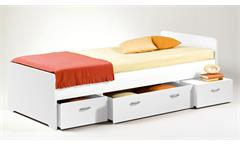 Kojen Bett Boro Jugendbett Kinderbett Funktionsbett Einzelbett weiß 90x200 cm