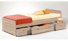 Kojen Bett Boro Jugendbett Funktionsbett Einzelbett in Eiche Sonoma 90x200 cm