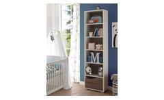 Standregal Marra Regal Bücherregal Babyzimmer weiß und Eiche Sonoma Trüffel