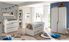 Babybett Marra Bett Kinderbett Gitterbett weiß inkl. Matratzenauflage 70x140 cm