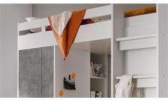 Etagenbett Maxi Kinderbett Hochbett Kinderzimmerbett Bett weiß Beton 90x200