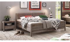 Bettanlage Montez-Moon Bett Doppelbett inkl. 2 Nachtkommoden Driftwood 180x200 cm