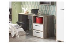 Schreibtisch Moon PC-Tisch Kinderschreibtisch Bürotisch Driftwood weiß 125x70 cm