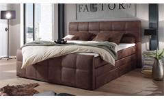 Boxspringbett Aspen Bett Polsterbett Doppelbett Schlafzimmer hell braun 180x200