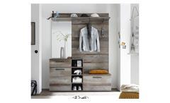 Garderobenset Complete Garderobe Kompaktgarderobe Flurmöbel in Driftwood 150x200