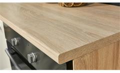 Küche Pumpkin Küchenzeile Küchenblock in magnolie und Sonoma Eiche 390x211 cm
