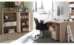 Büroschrank FACT Aktenschrank Schrank Büromöbel Sonoma Eiche 80x117 cm
