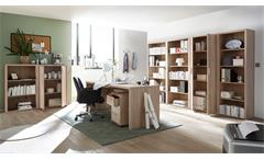 Rollcontainer Fact Container Kommode Büromöbel Home-Office Sonoma Eiche 43x60 cm