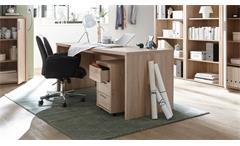 Schreibtisch Fact Computertisch Bürotisch Büromöbel in Sonoma Eiche 160x75 cm