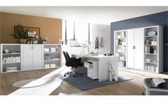 Büroschrank Fact Aktenschrank Schrank Büromöbel Home-Office in weiß 80x117 cm