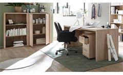 Büroset 8 Teile Fact Büromöbel Regal Schrank Schreibtisch Container Sonoma Eiche