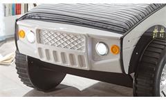Autobett Geländewagen SUV Kinder Abenteuerbett weiß 90x200 mit Beleuchtung