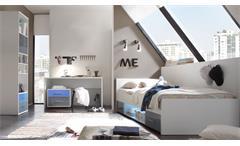 Jugendzimmer Set 4-teilig weiß mit Bett Schreibtisch Regal