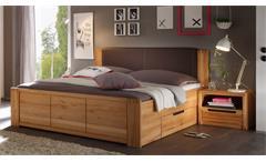 Schlafzimmer Bettanlage COLORADO Kernbuche teilmassiv Doppelbett