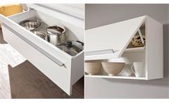 Küchenzeile Jazz 4 Küche Einbauküche weiß Hochglanz inkl. E-Geräten 200 cm