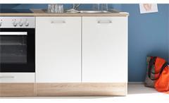 Küchenzeile Welcome Andy Küche Einbauküche Sonoma Eiche weiß matt mit E-Geräten