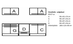 Küchenblock Welcome X Küche Einbauküche Sonoma Eiche weiß matt inkl. E-Geräten