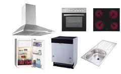 Küchenzeile Welcome weiß Hochglanz und matt mit Stone inkl. E-Geräten 300 cm