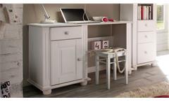 Schreibtisch Jugendzimmer Laura Kiefer massiv weiß Schubkasten