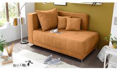 Liege MARLENE Schlafsofa Sofa in Safran orange 95x154 cm