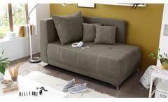 Liege MARLENE Schlafsofa Sofa in Schlamm braun 95x154 cm