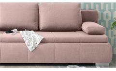 Schlafsofa Norman Bettsofa Funktionssofa Polstermöbel in Flamingo 105x208 cm