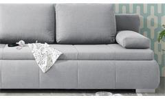 Schlafsofa Norman Bettsofa Funktionssofa Sofa Polstermöbel hell grau 105x208 cm
