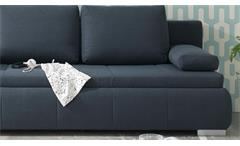 Schlafsofa Norman Bettsofa Funktionssofa Sofa Polstermöbel Stahl grau 105x208 cm