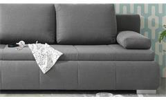 Schlafsofa Norman Bettsofa Sofa Funktionssofa Polstermöbel in grau 105x208 cm