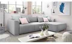 Ecksofa Lazy Wohnlandschaft Sofa Polstermöbel Schlaffunktion in grau 294x206 cm