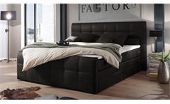 Boxspringbett Aspen Polsterbett Doppelbett Schlafzimmer in anthrazit 180x200 cm