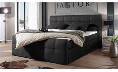 Boxspringbett Sacramento Polsterbett Doppelbett Schlafzimmer in schwarz 180x200