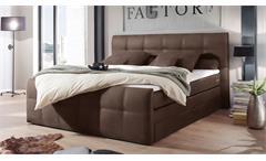 Boxspringbett Sacramento Polsterbett Doppelbett Schlafzimmer in braun 180x200 cm