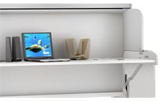 Funktionsbett Dakota Klappbett Schreibtisch Schrank weiß 90x200