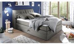 Boxspringbett Space Polsterbett Doppelbett Bett Schlafzimmer in grau 180x200 cm