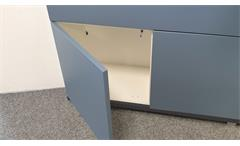 Highboard Bright Mehrzweck Kommoden weiß blau Schubkästen Türen push-to-open