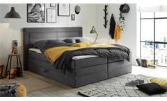 Boxspringbett Saba Polsterbett Doppelbett Bett Schlafzimmer in grau 180x200 cm