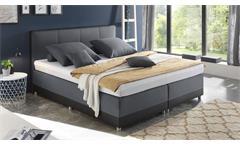 Boxspringbett Luanda Polsterbett Bett Schlafzimmer in schwarz anthrazit 180x200