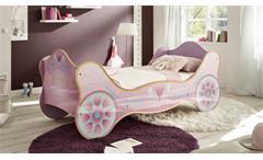 Kinderbett Sissy lila lackiert Bett Kinderzimmer Kutsche Mädchenbett 90x200 cm