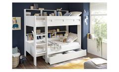 Etagenbett Hochbett GAIUS weiß Kinderbett 2x 90x200