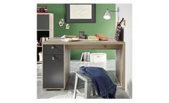 Schreibtisch Merlin Computertisch Old Style anthrazit