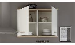 Küchen Hängeschrank Quince 100 cm weiß Sonoma Eiche Schrank Anstellprogramm