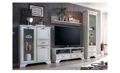 Wohnwand Venedig Anbauwand Schrankwand weiß used look mit Patina Landhausstil