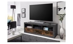 Lowboard Indiana TV-Board Unterschrank TV-Tisch Beton grau und old wood vintage
