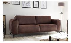 2,5-Sitzer PUEBLO Sofa Polstersofa Stoff dunkelbraun 185 cm