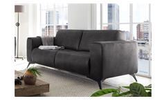 3-Sitzer Pueblo Sofa Couch Polstersofa Sitzmöbel in Stoff anthrazit 215 cm
