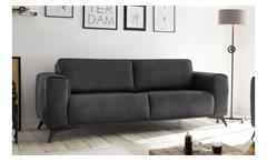 2,5-Sitzer PUEBLO Sofa Polstersofa in Stoff anthrazit 185 cm